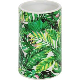 Стакан для зубных щёток Tropic керамика цвет зелёный