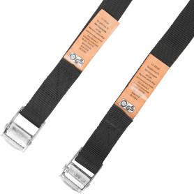 Набор ремней-стяжек с пряжкой-зажимом Standers 25х2500 мм, полипропилен, цвет чёрный, 2 шт.