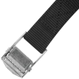 Ремень-стяжка с пряжкой-зажимом Standers 25х5000 мм, полипропилен, цвет чёрный