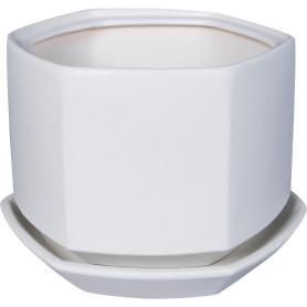 Горшок цветочный «Меркурий» D18, 1, 7л., керамика, Белый