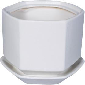 Горшок цветочный Goncar Меркурий 11x13.5x11 см v1 л керамика белый