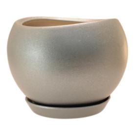 Горшок цветочный Gonchar Адель ø28 h24.5 см v15 л керамика медный