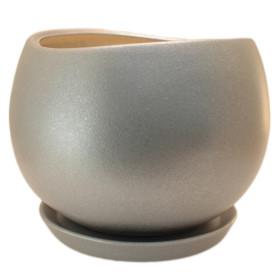 Горшок цветочный Gonchar Адель ø20 h18 см v3.5 л керамика медный