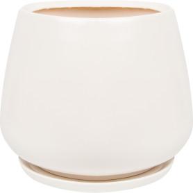 Горшок цветочный Gonchar Скарлет ø28 h31 см v15 л керамика белый
