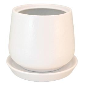 Горшок цветочный «Скарлет» D12, 1, 2л., керамика, Белый