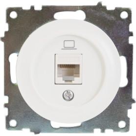 Розетка компьютерная встраиваемая Onekey Florence RJ45, UTP cat 5, цвет белый