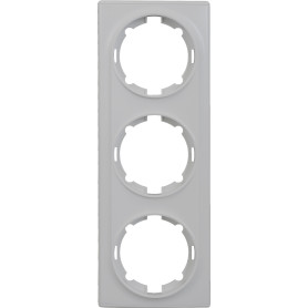 Рамка для розеток и выключателей Onekey Florence 3 поста, цвет белый
