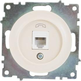 Телефонная розетка встраиваемая Onekey Florence RJ11, цвет бежевый