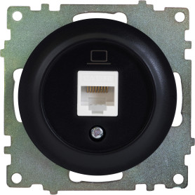 Розетка компьютерная встраиваемая Onekey Florence RJ45, UTP cat 5, цвет чёрный