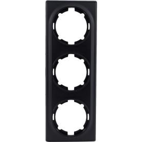 Рамка для розеток и выключателей Onekey Florence 3 поста, цвет чёрный