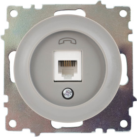 Телефонная розетка встраиваемая Onekey Florence RJ11, цвет серый