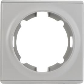 Рамка для розеток и выключателей Onekey Florence 1 пост, цвет серый