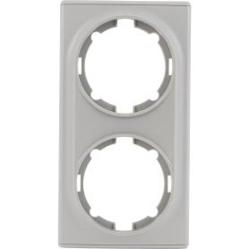 Рамка для розеток и выключателей Onekey Florence 2 поста, цвет серый