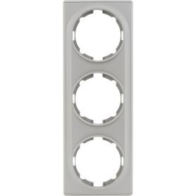 Рамка для розеток и выключателей Onekey Florence 3 поста, цвет серый