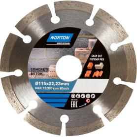 Диск алмазный по бетону Norton, 115х22.2 мм