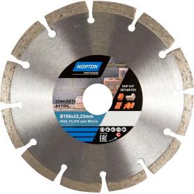 Диск алмазный по бетону Norton, 150х22.2 мм