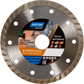 Диск алмазный универсальный Norton, 125х22.2 мм