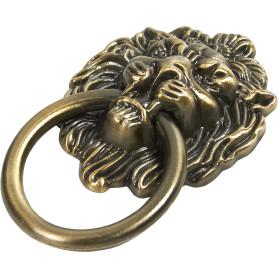 Ручка-кнопка мебельная Lion 40х50 мм, цвет бронза
