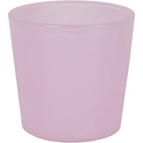 Кашпо цветочное «Розовое стекло», D11, 0, 6л. стекло, Розовый