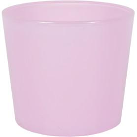 Кашпо цветочное «Розовое стекло», D14, 1л. стекло, Розовый