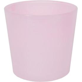 Кашпо цветочное «Розовое стекло», D17, 2л. стекло, Розовый