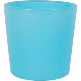 Кашпо цветочное «Голубое стекло», D11, 0, 6л. стекло, Синий