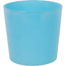 Кашпо цветочное «Голубое стекло», D17, 2л. стекло, Синий