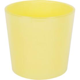 Кашпо цветочное «Желтое стекло», D17, 2л. стекло, Жёлтый / золотой