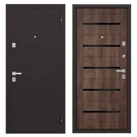 Дверь металлическая Гросс Техно, 860 мм, правая, цвет дуб морёный