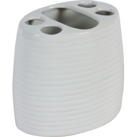 Стакан для зубных щёток Lilyum цвет белый