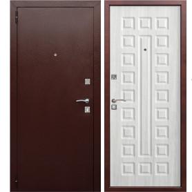 Дверь входная металлическая Йошкар РФ, 860 мм, левая, цвет ясень белый