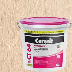 Штукатурка акриловая декоративная Ceresit CT 64 короед 1.5-2.0 25 кг
