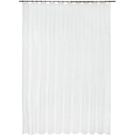 Тюль на ленте, 290х300 см, органза, цвет белый