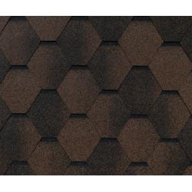 Черепица гибкая Roofshield стандарт коричневый 3 м²