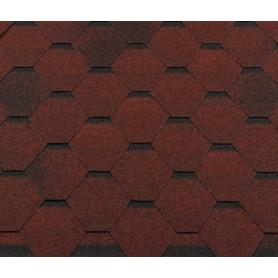 Черепица гибкая Roofshield стандарт красный 3 м²