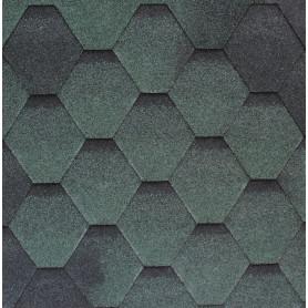 Черепица гибкая Roofshield стандарт зеленый 3 м²