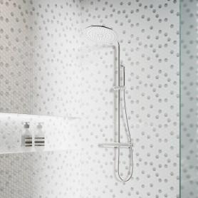 Мозаика стеклянная Diamond 31.7х30.7 см цвет белый
