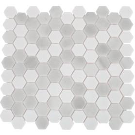 Мозаика стеклянная Hex 31.7х30.7 см цвет серый