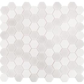 Мозаика стеклянная Hex Antislip 31.7х30.7 см цвет белый/серый