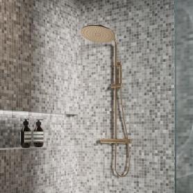 Мозаика стеклянная Pix Antislip 31.7х31.7 см цвет серый