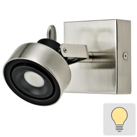 Спот поворотный светодиодный Poros, 2 м², тёплый белый свет, цвет никель