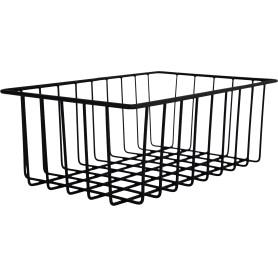 Корзина-органайзер для ящика, 25х16х9 см, цвет чёрный