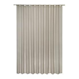 Тюль на ленте Elena, 300x280 см, полоски, цвет серый/коричневый
