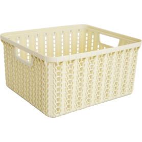 Корзинка для хранения «Вязание», 1.5 л, цвет слоновая кость