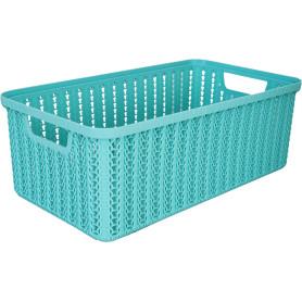 Корзинка для хранения «Вязание», 6 л, цвет морская волна