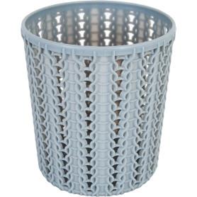 Стакан для зубных щеток «Вязание» 100х110 мм, цвет серый