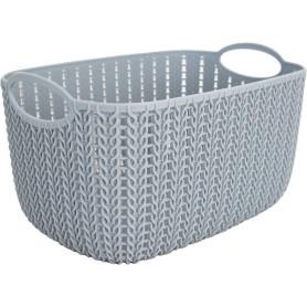 Корзинка для хранения «Вязание», 4 л, цвет серый