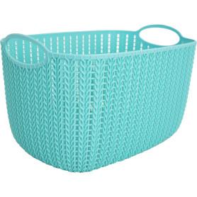 Корзинка для хранения «Вязание», 7 л, цвет морская волна