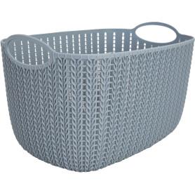 Корзинка для хранения «Вязание», 7 л, цвет серый