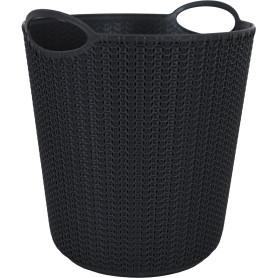 Корзина для мусора «Вязание», 260х290х260 мм, 10 л, цвет графит